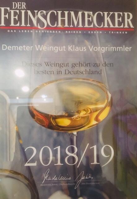 Der Feinschmecker: dieses Weingut gehört zu den besten in Deutschland